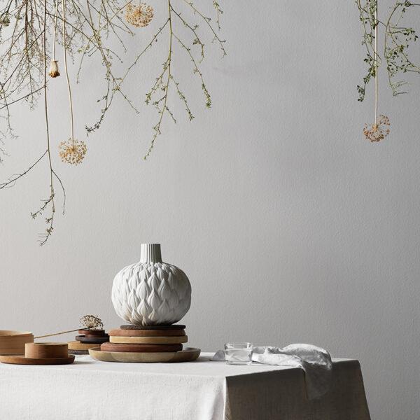 Relief Astrid Ceramic Vase - Cream White