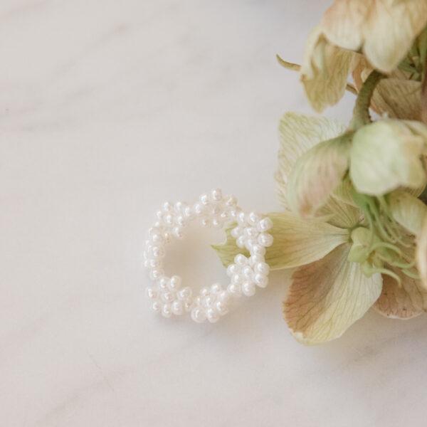 Florencita Japanese Bead Ring - Pearl Cream