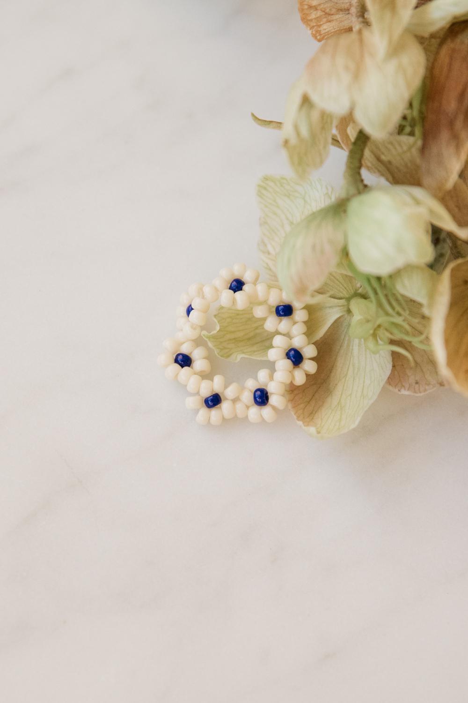 Florencita Japanese Bead Ring - Navy