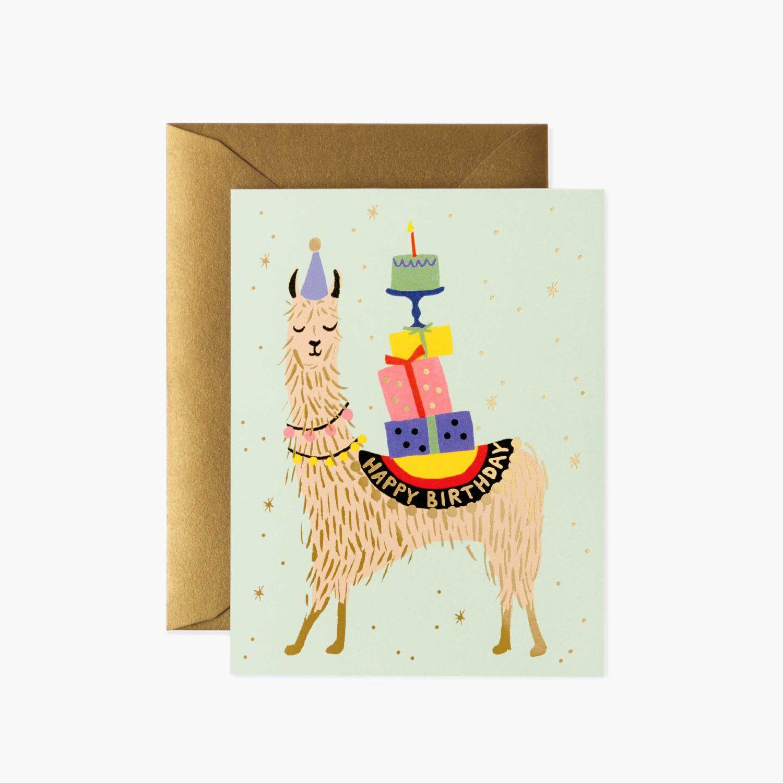 "Rifle Paper Co. ""Llama Birthday"" Greeting Card"