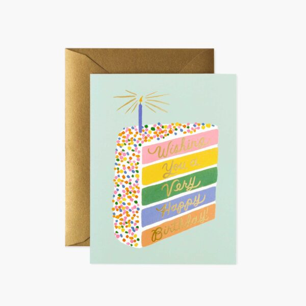 "Rifle Paper Co. ""Cake Slice Birthday"" Greeting Card"