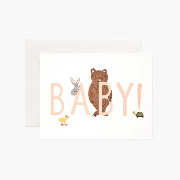 """Rifle Paper Co. """"Baby! Peach"""" Greeting Card"""