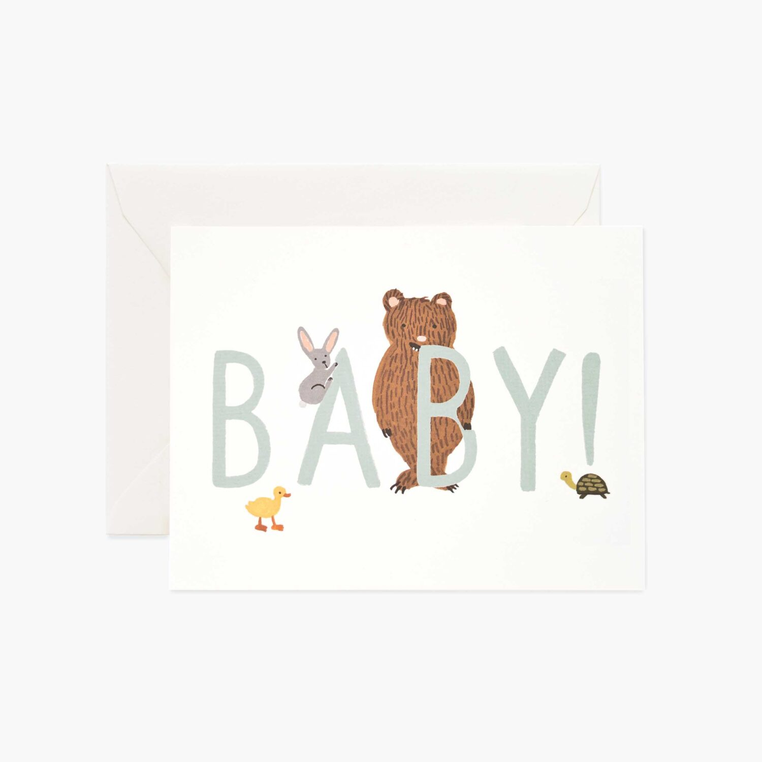 """Rifle Paper Co. """"Baby! Mint"""" Greeting Card"""