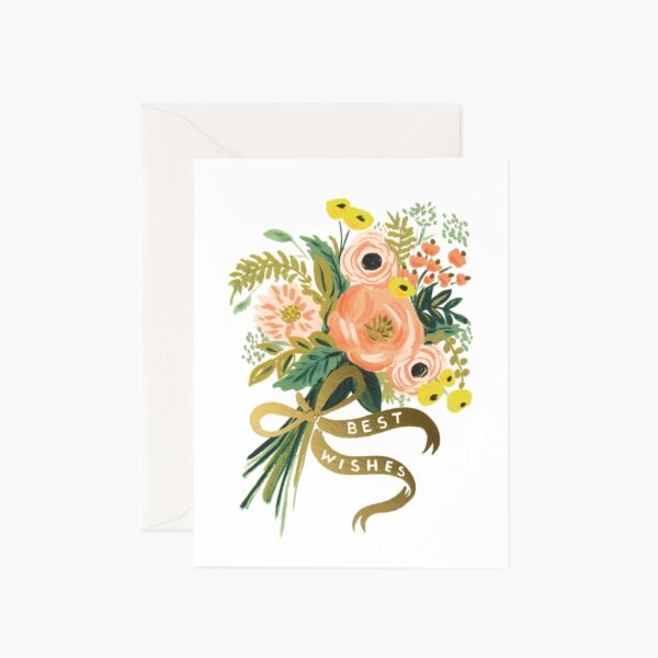 """Rifle Paper Co. """"Best Wishes Bouquet"""" Greeting Card"""