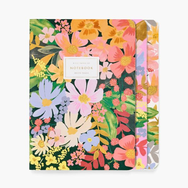 """""""Marguerite"""" Stitched Notebook Set of 3"""