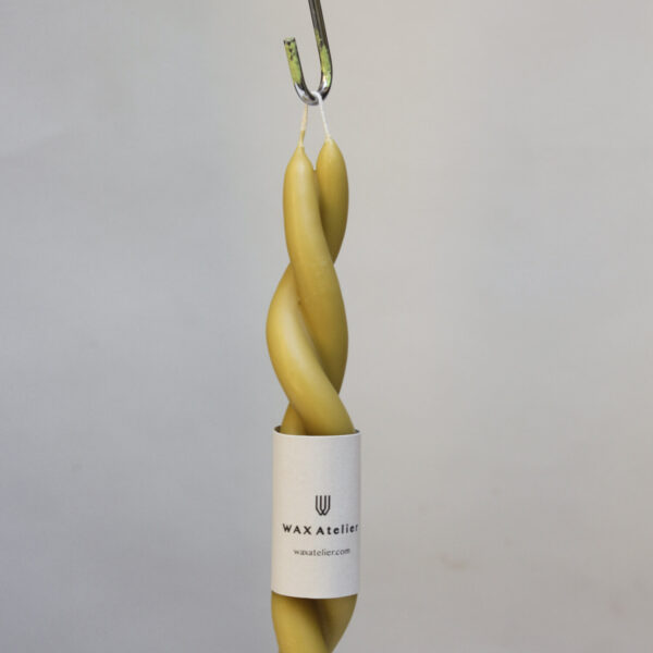 Beeswax Twisted Candle - Natural