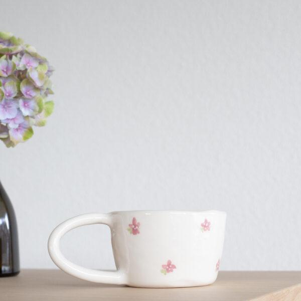 FLEUR Terra Handmade Ceramic Mug - Pink