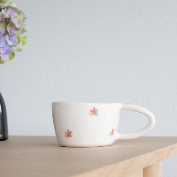 FLEUR Terra Handmade Ceramic Mug - Rose