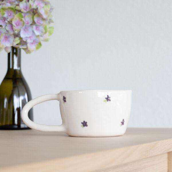 FLEUR Terra Handmade Ceramic Mug - Violet