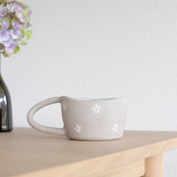 FLEUR Terra Handmade Ceramic Mug - Grey