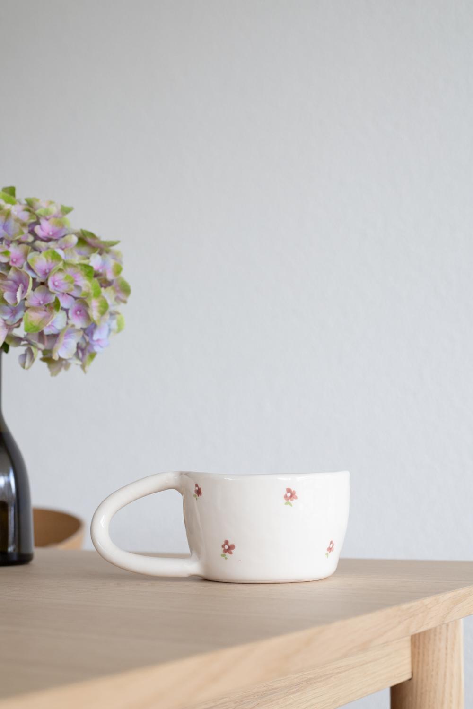FLEUR Terra Handmade Ceramic Mug - Red