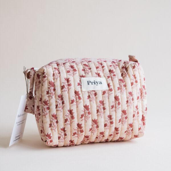 Priya Pink Small Beauty Bag