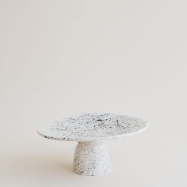 Big Handmade Ceramic Cookie Stand - Speckled