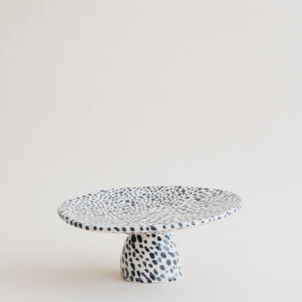 Big Handmade Ceramic Cookie Stand - Dalmatian