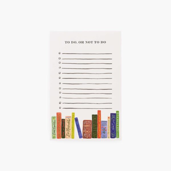 """Rifle Paper Co. """"To Do or Not To Do"""" Checklist Notepad"""