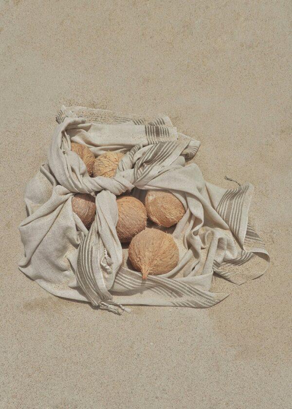 Handwoven Beach Towel - Mediterranean Sand
