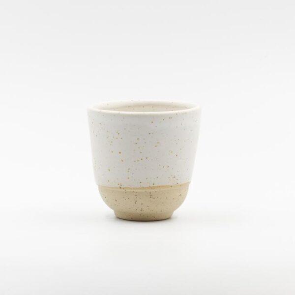 Speckled White Handmade Ceramic Cup