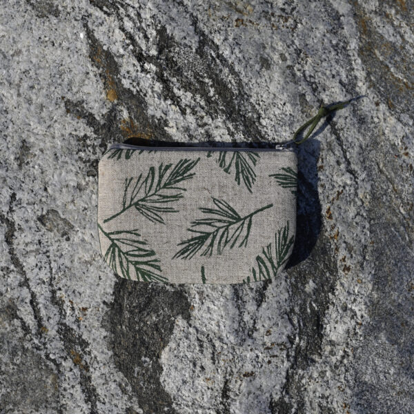 """""""Into the Woods"""" Hand-Printed Linen Wallet"""