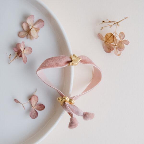 Velvet Bird Bracelet - Blush