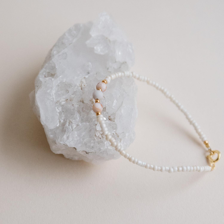 Mia Agate Pink Bracelet