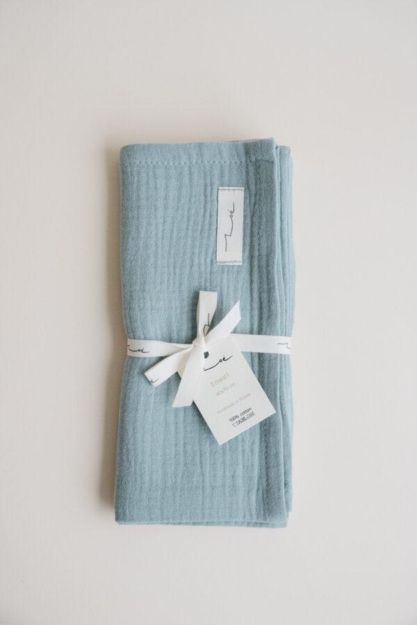 Zoe Cotton Hand & Kitchen Towel - Turquoise