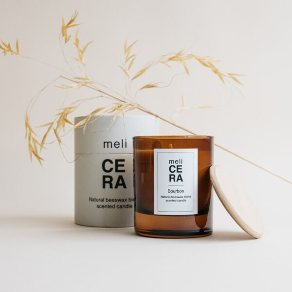 Natural Beeswax Scented Candle - Bourbon