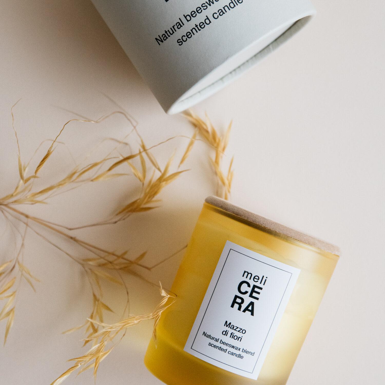 Natural Beeswax Scented Candle - Mazzo di Fiori