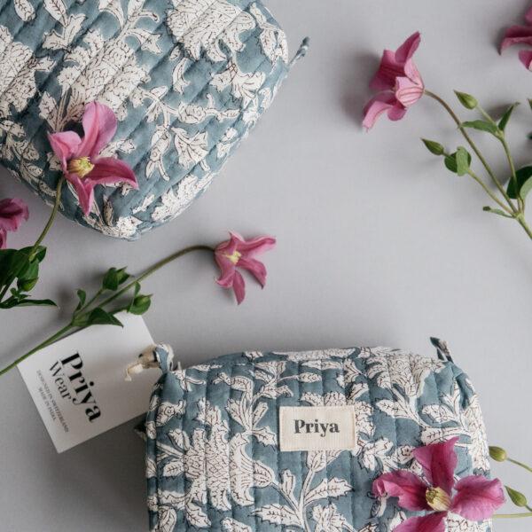 Priya Smoky Blue Medium Bag