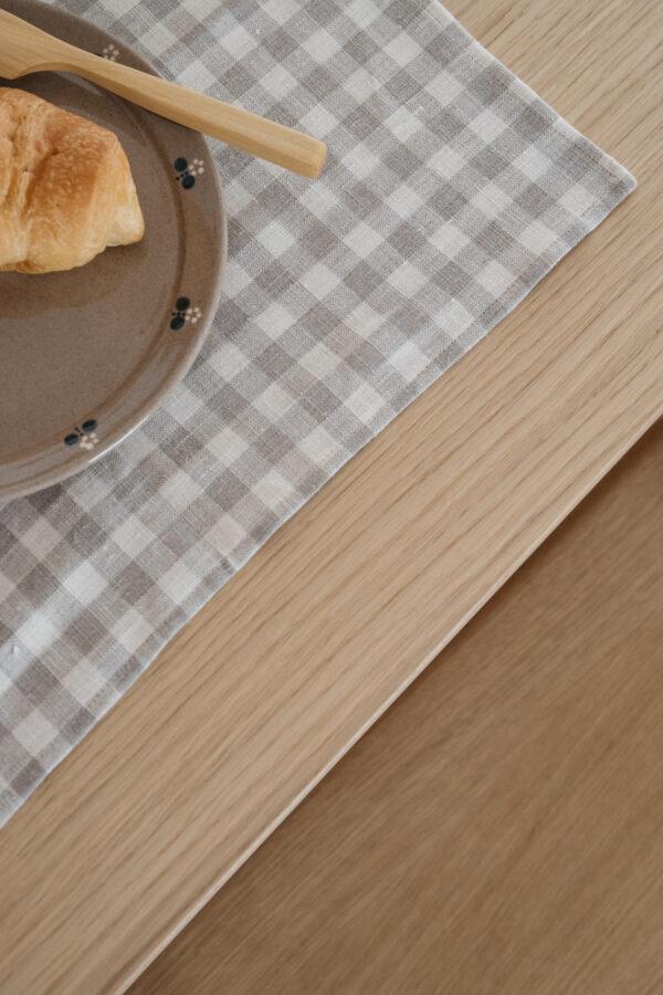 ALMOND Linen Placemat Set of 2