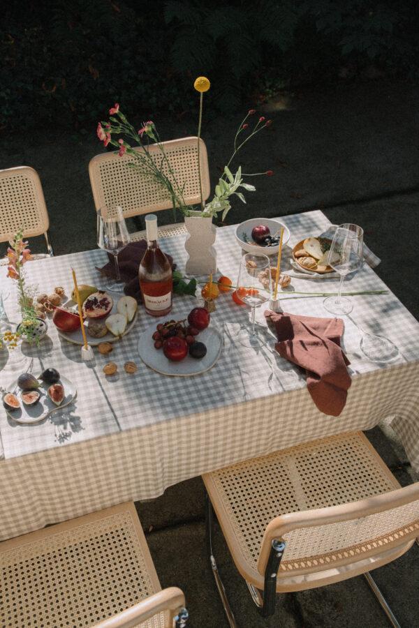 ALMOND Linen Tablecloth